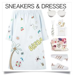 Sneaker & Dress by cstarzforhome on Polyvore featuring polyvore fashion style Mira Mikati adidas Originals Alexander McQueen Sharon Khazzam Victoria Beckham Marc Jacobs clothing