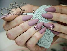 """#nude #nails #matt #mattnails #paznokcie #matowe #swarovski #crystal"""