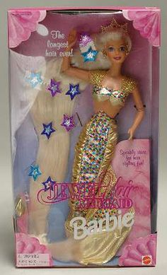 Jewel Hair Mermaid Barbie. Always wanted the Barbie, but got the Teresa instead