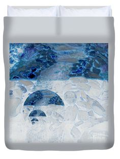 Stunning Duvet Cover featuring the photograph Waterfall In The Moon by Sandra Gallegos