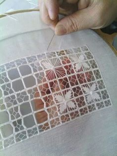 Pulled thread and cutwork