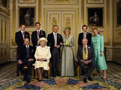 April 9, 2005 [England] ~ The royal family at the wedding of Prince Charles to his second wife Camilla Parker Bowles