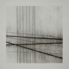 Fiona Robinson  Third Nocturne, - 2011  56 x 56    charcoal graphite white chalk