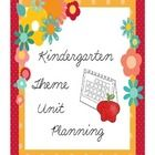 Kindergarten Theme Units for a Year - Freebie Kindergarten Curriculum Map, Curriculum Mapping, Kindergarten Themes, Unit Plan, Outline, Homeschool, Classroom, The Unit, How To Plan