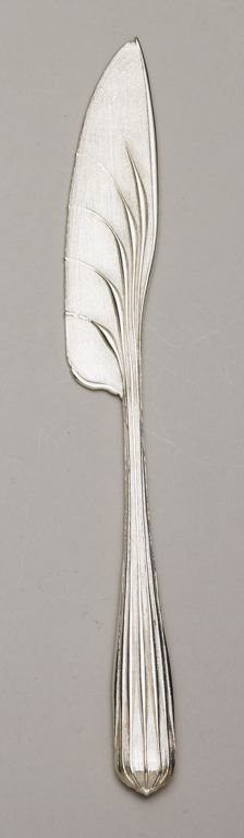 Greg Lynn  American, born 1964  Commissioned for Alessi  Knife, 2007  Sterling silver  1 x 2.75 x 23 cm