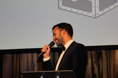 Tate Awards Dinner - Matt Bennett announcing the winner of our Charity draw: the £830 collected on the night have gone to Tate's chosen charity Trinity Hospice