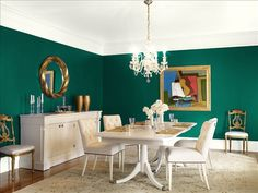 the black-green wall color is salamander 2050-10benjamin moore
