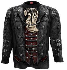 Goth wrap - Tee-shirt homme - Steampunk - Spiral - Manches longues