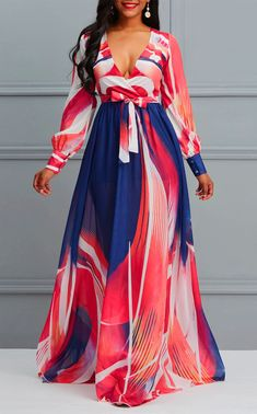 New African fashion clothing looks Tips 4464377444 Chiffon Dress Long, Maxi Dress With Sleeves, Short Beach Dresses, Latest African Fashion Dresses, Ankara Fashion, Classy Dress, African Dress, African Style, Mode Style