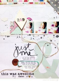#papercraft #scrapbook #layout. Layout of the Week @studio_calico by ginny