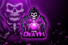 The Death - Mascot & Esport logo ~ Logo Templates ~ Creative Market Logo Esport, 100 Logo, Team Logo Design, Mascot Design, Logos Color, Thalia, Ghost Logo, Logos Ideas, E Sport