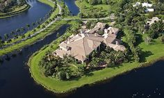 Weston, FL; This mansion in a gated community about 15 minutes west of Fort Lauderdale-Hollywood International Airport was built by the co-founder of Mattress Giant, who then changed his mind and never lived in it.  Size: 34,039 square feet, 9 bedrooms, 14 bathrooms. movie theater, ballroom, 2 swimming pools and Dan Marino used to live across the street.  Year built: 2009  Price: 7.8 million