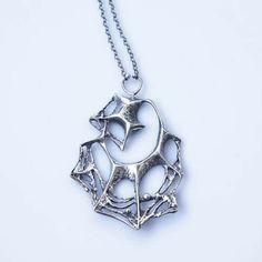 #forsale > Karl Laine for Sten & Laine (FI), vintage modernist sterling silver spiderweb necklace, 1961. #finland   finlandjewelry.com