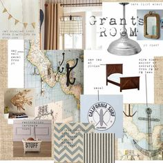boys room...strange, but this is not my design board, but we have the same theme and same name of our little boy!
