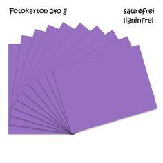 Fotokarton violett A4 - 10 Bogen - 240g