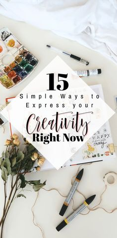 15 Simple Ways to Express your Creativity Right Now – You don't need to be an artist or even have a lot of time on your hands to start to express your unique creativity right now. Simple Living Blog, Simple Blog, Fiction Writing Prompts, Declutter Your Mind, Best Blogs, Creative Activities, Do You Remember, Right Now, Happy Planner