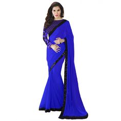Rattling Georgette Lace Work Festive Wear & Party Wear Saree at just Rs.640/- on www.vendorvilla.com. Cash on Delivery, Easy Returns, Lowest Price.