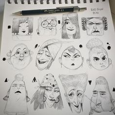 My exercise list with shapes Ladies first✨ I'll scan it soon #art #bladmoran #sketchbook #sketch #sketchtober #lady #girls #paperdrawing #shapes #doodles #faces #character #characterdesign