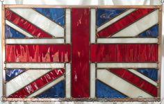 Stained Glass Artwork UNION JACK United Kingdom UK Flag Great Britain. $99.00, via Etsy.