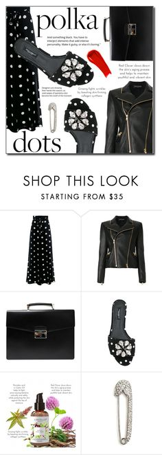 """Polka Dots"" by loveislikeasong ❤ liked on Polyvore featuring Boutique Moschino, Balmain, Prada, Dolce&Gabbana and NARS Cosmetics"