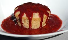 Cherry almond coconut mini cakes topped with a cherry Amaretto sauce #vegan #kathyhester #healthyslowcooking.com