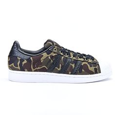 adidas Herren Superstar Sneaker, Schwarz (Cblack/Cblack/F... https