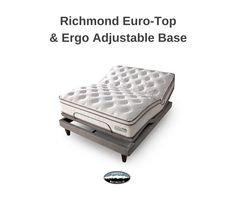This fabulous sleep system has it all! Pair our Richmond Euro-Top mattress with the Ergo Argo Adjustable base and you've got truly personalized comfort and support.