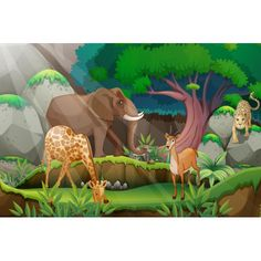 Find Illustration Jungle Scene stock images in HD and millions of other royalty-free stock photos, illustrations and vectors in the Shutterstock collection. Thousands of new, high-quality pictures added every day. Jungle Illustration, Jungle Scene, Wordpress Theme Design, Silk Painting, Free Illustrations, Birds In Flight, Graphic Art, Royalty Free Stock Photos, Creatures