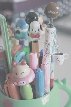 Kawaii pens | Stationary Hoarder/ohno | Pinterest
