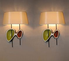 Georges Jouve - Magen Gallery; Pair of sconces, enameled ceramic, 1952, 24H x 7.5W inches