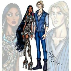 'Disney Darling Couples' by Hayden Williams: Pocahontas and John Smith