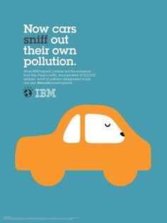 IBM ad | IBM: Outcomes car, IBM, Ogilvy & Mather Paris, IBM, Print, Outdoor ...