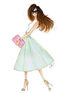 Spring Sorbet~Anum Tariq has such a talent with her beautiful fashion illustrations~❥