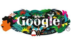 Gabriel-Garcia-Marquez Colombian novelist and short story Gabriel Garcia Marquez, Google Doodles, Images Google, Art Google, Google Birthday, Google Homepage, Hundred Years Of Solitude, Losing My Religion, Logo Google