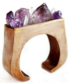 Rough, tough and naturally gorgeous: Amethyst Crystal Block by Pamela Love via Bona Drag