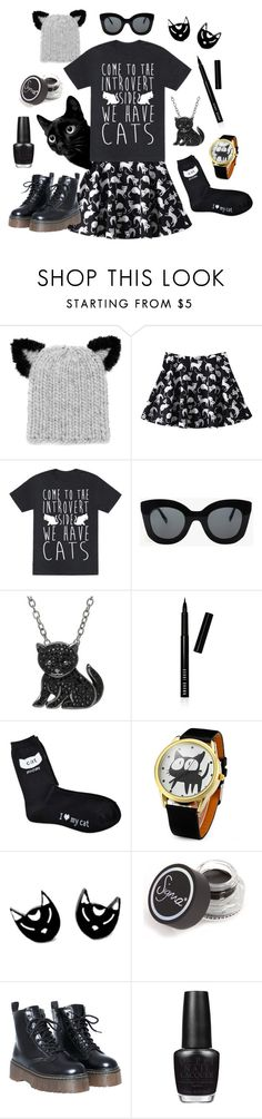 """""""Introverted Cat Lady"""" by lauralaurahale on Polyvore featuring Eugenia Kim, CÉLINE, Animal Planet, Bobbi Brown Cosmetics, Sigma Beauty, OPI, women's clothing, women, female and woman"""
