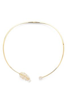 Nadri Feather Collar Necklace available at #Nordstrom