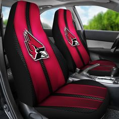 Incredible Line Pattern Ball State Cardinals Logo Car Seat Covers – Best Funny Store
