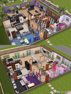 I recreated the house on the top Sims freeplay houses Sims house Sims house design