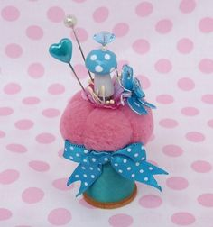 Thread Spool Toadstool Pincushion - Picmia