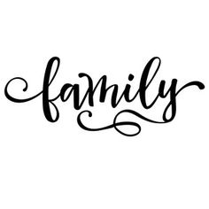Silhouette Design Store: family word