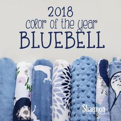 Shannon Fabrics Color Of The Year 2018 Bluebell #ShannonFabrics