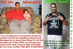 Another amazing 90 Day Transformation.  www.ThisIsForReal.BodyByVi.com
