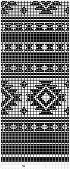 Native American Geometric Design Pattern Chart for Cross Stitch
