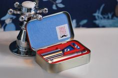 Now that's a neat design! Shave Stash custom travel case for a DE safety razor by ShaveStash, $19.99