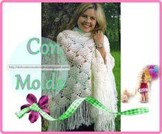 Delicadezas en crochet Gabriela: Chal blanco en ganchillo
