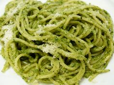 Basil Pesto Zucchini Noodles - Powered by I would add grilled shrimp, broccoli, artichokes, cherry tomatoes or red bell pepper Pesto Pasta, Sauce Pesto, Pesto Zucchini Noodles, Salsa Verde, Basil Pesto Recipes, Spaghetti, St Patricks Day Food, Greens Recipe, Cooking