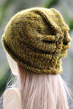 I'm Lichen This Hat pattern by Gretchen Tracy | malabrigo Mecha in Mostaza
