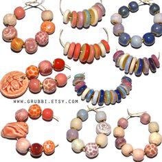 Ceramic bead update at Grubbi Ceramics x