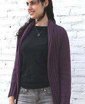 Ravelry: Go With The Flow Jacket pattern by Ram Wools Yarn Co-op 1367 - 1640 yds; sz 7 needles style would be good as a vest